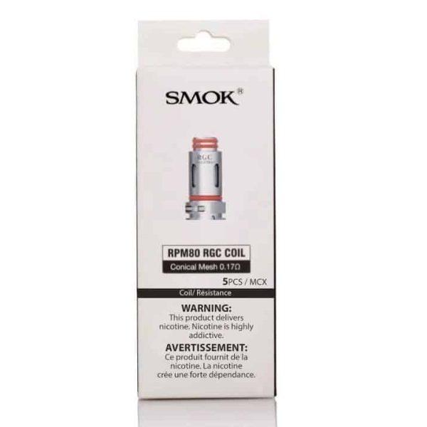 smok rpm80 rgc replacement coils 5 pack smok
